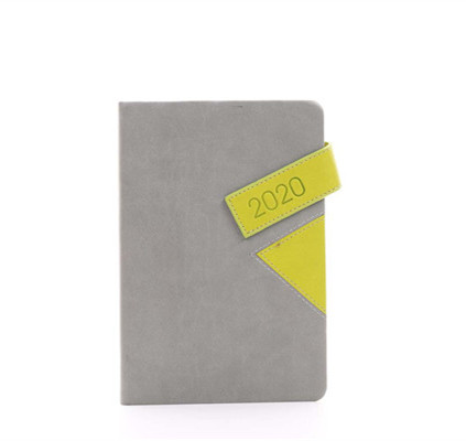 handmade soft touch pu leather white pages a5 hard