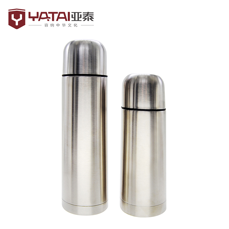 Double wall stainless steel bullet shaped water bo